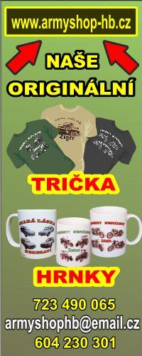 Prodej triček a hrnků s veteránskou tématikou
