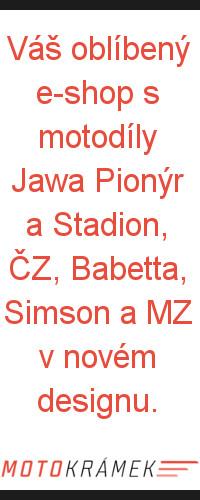 Motokrámek Jakuba, díly na JAWA PIONÝR a STADION, ČZ, MZ, SIMSON