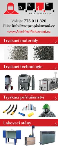 Materiál a vybavení pro tryskání pískování