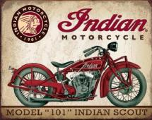 INDIAN MOTORCYCLE - plechová cedule 410x320mm
