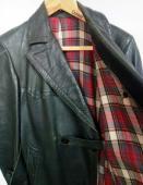 Starý německý kožený kabát vel. L