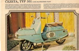 Prodám ČZ 175 typ 501 - skútr (prase)