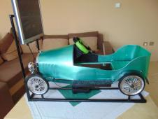 Minisimulátor historické autíčko zelené